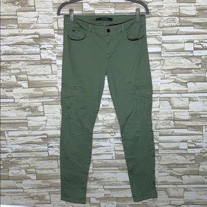 Joe's Green Cargo Moro Skinny Pants Size 28